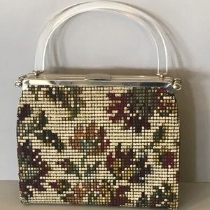 Handbags - Vintage cross-stitch tapestry handbag